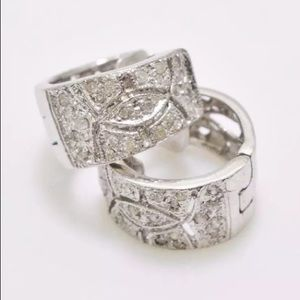 Genuine 1/2ct Diamond G/SI Sterling Hoop Earrings!